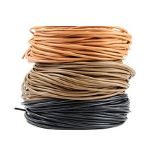 Lederschnur Lederband Lederriemen in schwarz braun cognac Ø ca. 2mm 3mm 4mm 5mm von 2 m bis 100 m