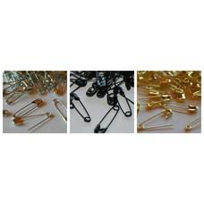 Sicherheitsnadeln 19mm in silber schwarz gold von 250 Stück bis 1000 Stück