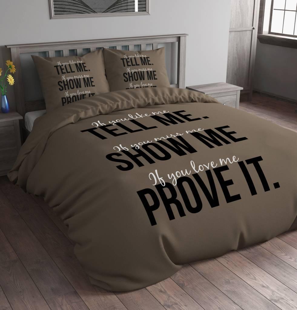 Dekbedovertrek Tell me Taupe - Bruker Slaapcomfort