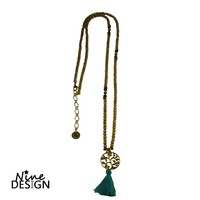 ND-Ketting Brown blue Glass tree of life