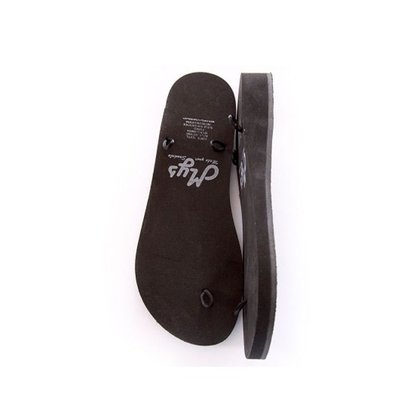 Cunya 3 Black slippers met 2 paar linten