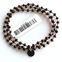 Crystal bracelet set 4mm Jet
