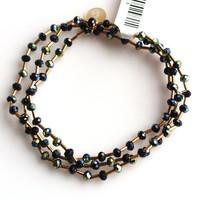 Crystal bracelet set 4mm Jet AB