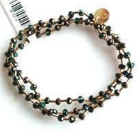 Crystal bracelet set 4mm Teal