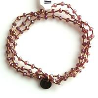 Crystal bracelet set 4mm Light Purple