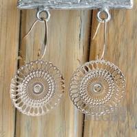 Earrings 24x40mm Filligrain Lace gold