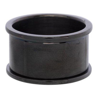IXXXI JEWELRY RINGEN iXXXi Basisring 1,2cm Black Stainless Steel