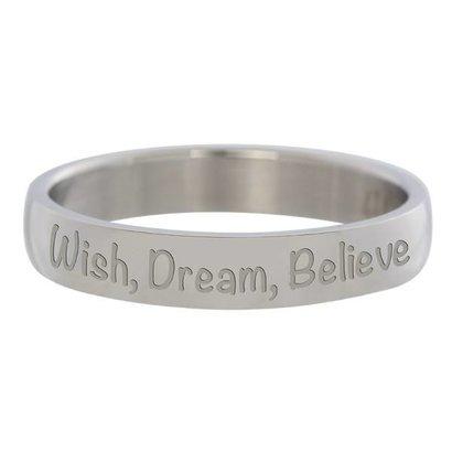 IXXXI JEWELRY RINGEN iXXXi Vulring 0.4 cm Wish, Dream, Believe zilverkleurig Edelstaal
