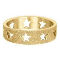 IXXXI JEWELRY RINGEN iXXXi Waschmaschine Open Gold Sterne sandgestrahlt