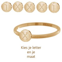 IXXXI JEWELRY RINGEN iXXXi Jewelry Vulring 0.2 cm Staal Alfabet Rosegoud
