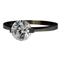 IXXXI JEWELRY RINGEN iXXXi Jewelry Vulring 0.2 cm Glamour Stone Black