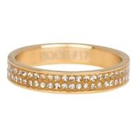 IXXXI JEWELRY RINGEN iXXXi Jewelry Vulring 0.4 cm Double Zirkonia Gold
