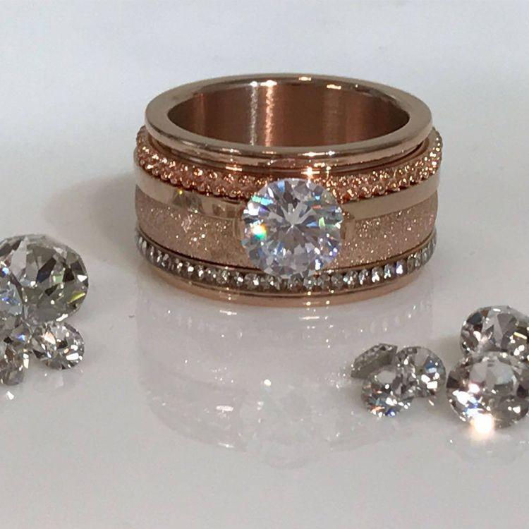 Silver Rose Ring Box