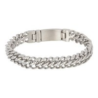 iXXXi JEWELRY iXXXi STEEL Bracelet Silver brushed narrow link bracelet