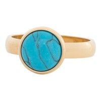 IXXXI JEWELRY RINGEN iXXXi Jewelry Vulring 0.4 cm Staal Turquoise Stone Gold 12mm