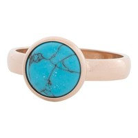 IXXXI JEWELRY RINGEN iXXXi Jewelry Vulring 0.4 cm Staal Turquoise Stone Rosegold 12mm
