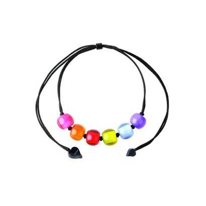 ZSISKA DESIGN Zsiska Ketting Colourful Beads verstelbaar Spectrum