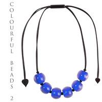 ZSISKA DESIGN ZSISKA Design Bunte Perlen Halskette verstellbar Blau