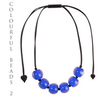 ZSISKA DESIGN ZSISKA Design Colourful Beads Necklace adjustable Blue