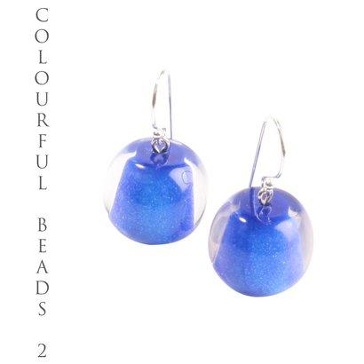 ZSISKA DESIGN Zsiska Design oorhangers kort model Colourful Beads Blauw
