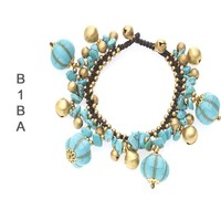BIBA ARMBANDEN Biba Knotted bracelet with charms