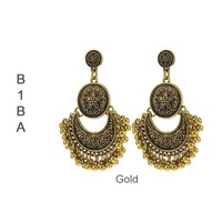 BIBA OORBELLEN Biba Earrings Metal Eastern with bells