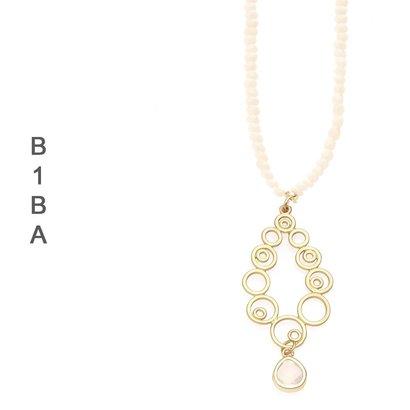 BIBA EXPERIENCE Biba Lange Ketting Mat Gold Curly verkrijgbaar in meerdere kleurcombinaties