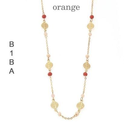 BIBA EXPERIENCE Biba lange ketting met crystalkraaltjes en elementjes