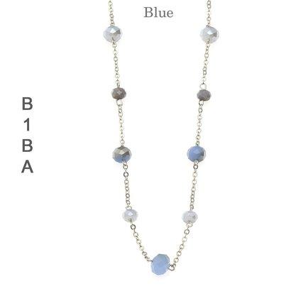 BIBA EXPERIENCE Biba lange ketting met crystalkraaltjes