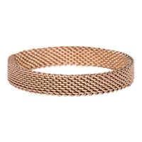 iXXXi JEWELRY MEN iXXXi Jewelry Vulring 0.4 cm MESH BROWN