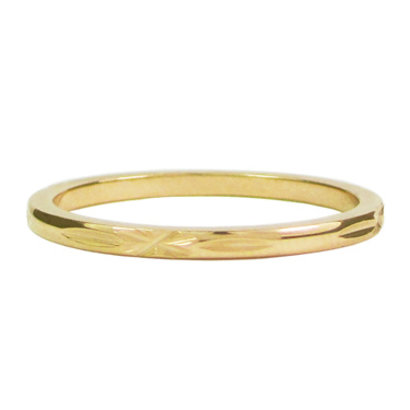 CHARMIN'S Charmins Cross stalen stapelring R308 Gold Steel van het fashion sieradenmerk Charmin's.