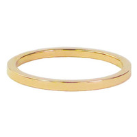 CHARMIN'S Charmins Ring Plain Gold Steel