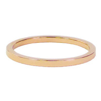 CHARMIN'S Charmins ring Plain Rosegold Staal