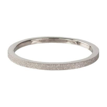 CHARMIN'S Charmins Sanded stalen stapelring R340 Silver Steel van het fashion sieradenmerk Charmin's.
