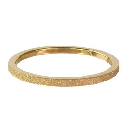 CHARMIN'S Charmins Sanded stalen stapelring R341 gold Steel van het fashion sieradenmerk Charmin's.