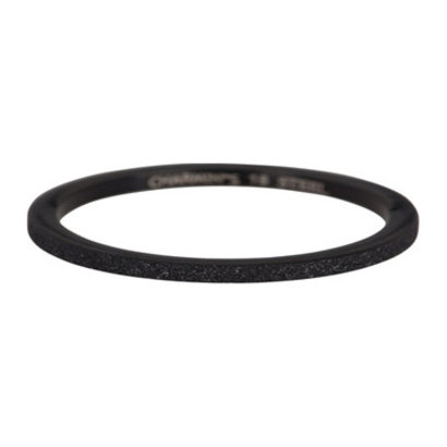 CHARMIN'S Charmins Sanded steel stack ring R367 Black Steel from Charmin's fashion jewelry brand.