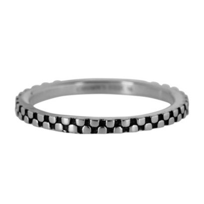 CHARMIN'S Charmins Pointy Steel stalen stapelring R451 Silver Steel van het fashion sieradenmerk Charmin's.