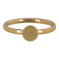 CHARMIN'S Charmin Ring Fashion Seal Medium Gold Steel