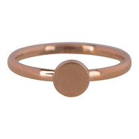 CHARMIN'S Charmins Ring Mode Seal Medium Rose Gold Stahl