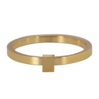 CHARMIN'S Charmins ring Quatre Steel Goud Staal