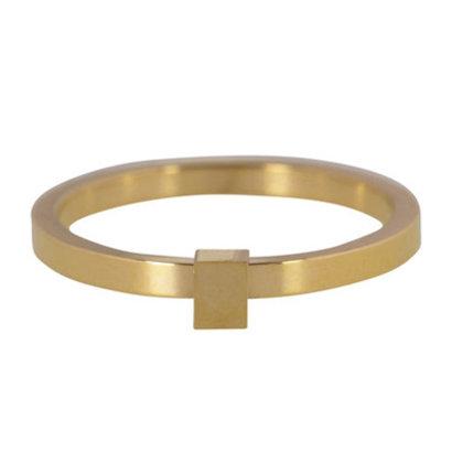CHARMIN'S Charmins Quatre Steel stalen stapelring R484 Gold Steel van het fashion sieradenmerk Charmin's.