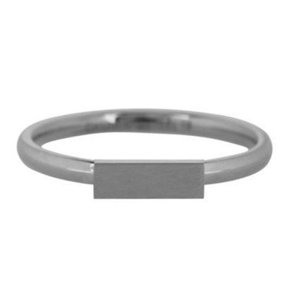 CHARMIN'S Charmins Rectangle Steel stalen stapelring R419 Silver Steel van het fashion sieradenmerk Charmin's.