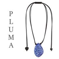 ZSISKA DESIGN ZSISKA Design-Halsketten-Anhänger PLUMA BLAUW