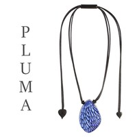 ZSISKA DESIGN Zsiska Design Necklace Pendant PLUMA BLUE