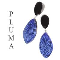 ZSISKA DESIGN Zsiska Design Earrings PLUMA BLUE