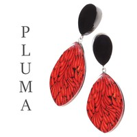 ZSISKA DESIGN Zsiska Design Earrings PLUMA RED