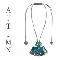 ZSISKA DESIGN Zsiska Design Ketting Pendant Autumn Teal