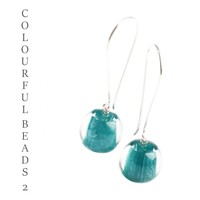 ZSISKA DESIGN Zsiska Design Oorhangers COLOURFUL BEADS 2 TEAL