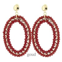BIBA OORBELLEN Biba Earrings Red Oval