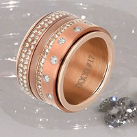 IXXXI JEWELRY RINGEN iXXXi COMBINATION RING ROSE 1011 MAT BROWN ROSE